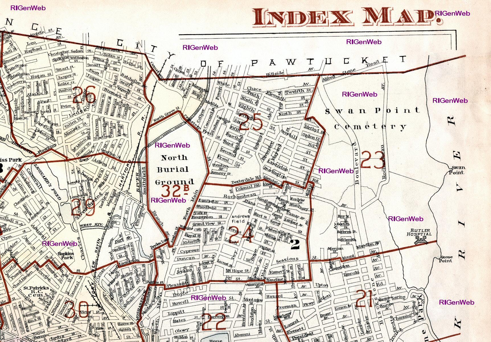 1918 Providence RI Atlas