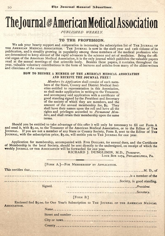 1889 Journal American Medical Association Advertisements 1
